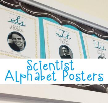 Scientist Cursive Alphabet Posters Pack