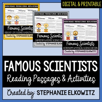 Scientist Flip Book Bundle