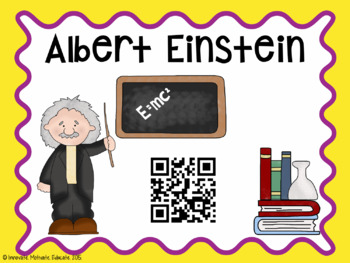 Scientist Information Posters with QR Code and Semi-Editable Options