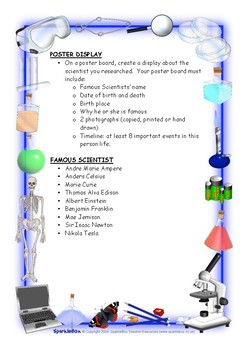 Scientist Project with Rubric