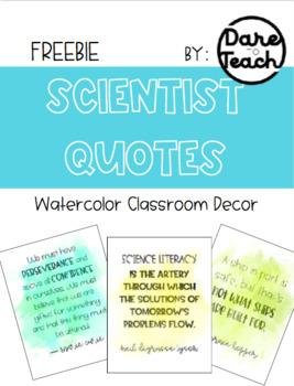 Scientist Quotes Classroom Decor