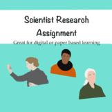 Scientist Research Assignment Webquest Digital or Paper