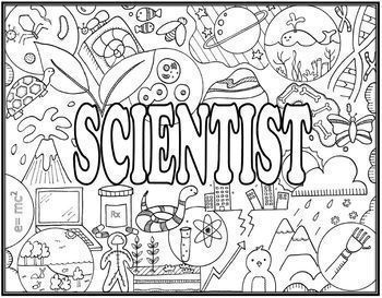 Science & Scientist Seek and Find Science Doodle Page Combo
