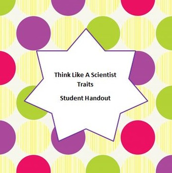 Scientist Traits Student Handout