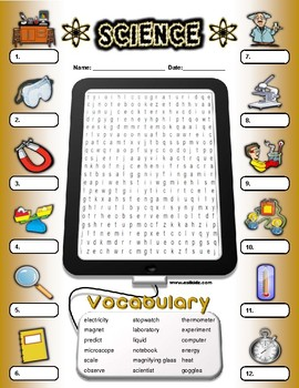 Scientist Vocabulary Identify Activity