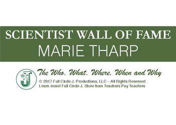 Scientist Wall of Fame: Marie Tharp