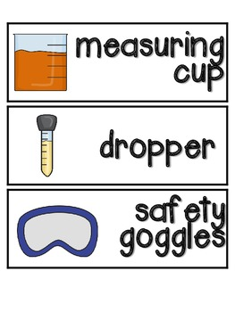 Scientist and Science Tool Vocabulary Word Wall