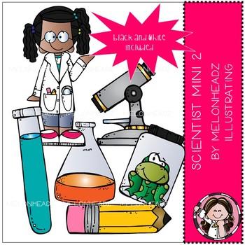 Scientist clip art  - Mini - Set 2 - by Melonheadz