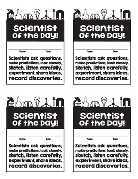 Scientist of the Day Certificates and Poster