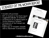 Scientist of the Month Report- Both PDF and Digital Copy