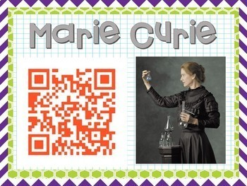 Scientist of the Month using QR Codes