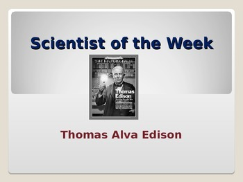 Common Core Text Dependent Questions Close Reading: Scientist of the Week 3