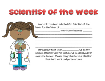 Scientist of the Week AWARD