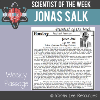 Scientist of the Week - Jonas Salk