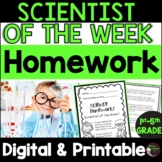 Scientist of the Week Homework Assignment   Digital and Printable