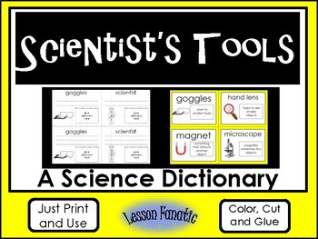 Scientist's Tools Color, Cut and Glue Dictionary