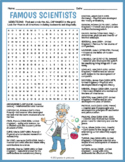 Famous Scientists Word Search Puzzle