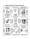 Scientists: 9 Square Puzzle Card Sort HARD