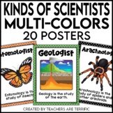 Kinds of Scientists Posters in Multi-Colors