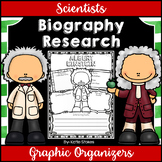 Scientists - Biography Research Graphic Organizers | Dista