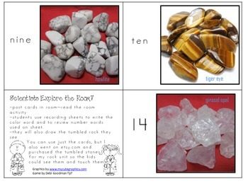 Scientists Explore/Read the Room! Rock Activity with color and number words