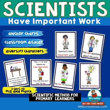 What Does A Scientist Do | Important Work | Anchor Charts for Classroom Display