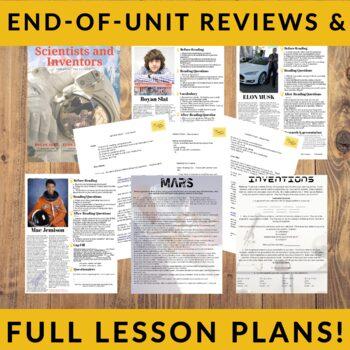 Famous Scientists & Inventors- 5 Lesson Advanced ESL Reading Worksheet Bundle