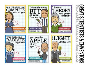 Scientists & Inventors Valentines