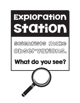 """Scientists Make Observations Poster and """"I Noticed"""" Paper"""