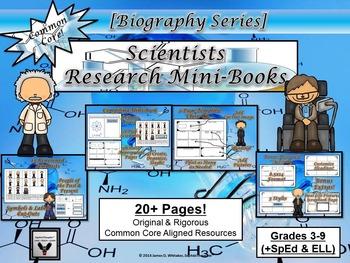 Scientists Research Mini-Book Activity Common Core