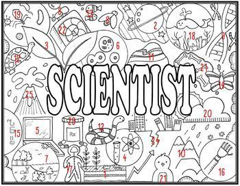 Scientists Seek and Find Science Doodle Page