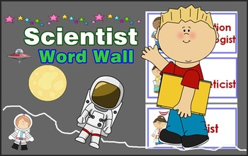 Scientists Word Wall with Pictures / Back to school !