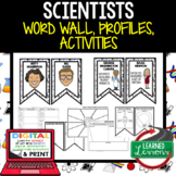 Scientists STEM Word Wall, Profiles, Activity Pages Digital Google