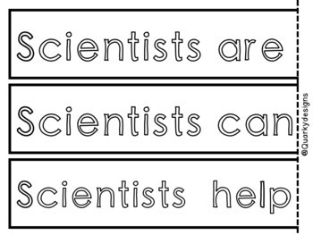 Scientists and 5 Senses: Pocket Chart Sentences {Science & Literacy}