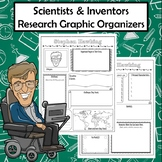 Scientists and Inventors Biography Research Graphic Organizers
