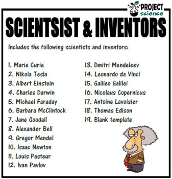 Scientists and Inventors Research Sheets