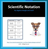 Scientific Notation Multiplying and Dividing Matching Activity