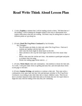 Sciezka Read Write Think Aloud