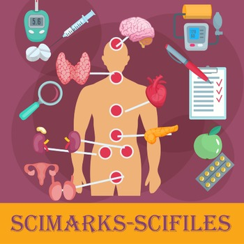 Scimarks-Scifiles Human Body Systems Bundle - Bookmarks & Files