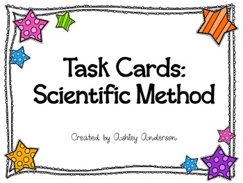 Scinetific Method Task cards