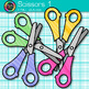 Scissor Clip Art {Rainbow Glitter Back to School Supplies for Teachers} 1