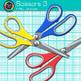 Scissor Clip Art {Rainbow Glitter Back to School Supplies for Teachers} 1