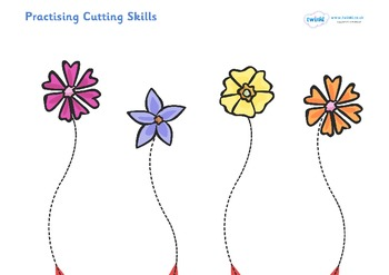 Scissor Cutting Skills Workbook