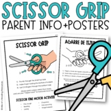 Scissor Grip Parent Info Sheet and Poster | Distance Learning
