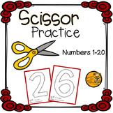 Scissor Practice: Numbers 1-20