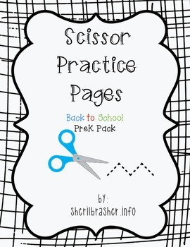 Scissor Practice Pages: Back 2 School Pack
