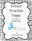 Scissor Practice Pages: Christmas Pack