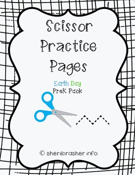 Scissor Practice Pages: Earth Day Pack