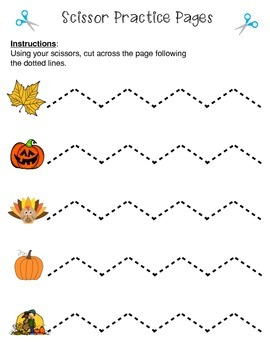 Scissor Practice Pages: Fall Pack