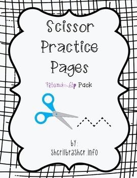 Scissor Practice Pages: Friendship Pack